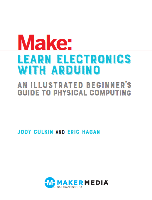 Make: LEARN ELECTRONICS WITH ARDUINO封面